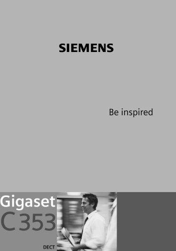 Siemens Gigaset C353 - Tkw-gmbh.de