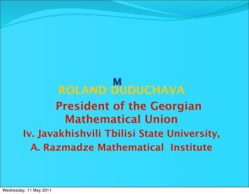 Presentation by Roland Duduchava, PDF 378 KB