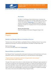 March Issue - European Centre for Social Welfare Policy and ...