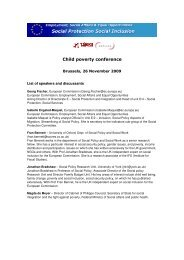 Child poverty conference - European Centre for Social Welfare ...