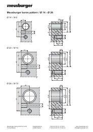 Meusburger bores pattern / Ø 14 - Ø 26