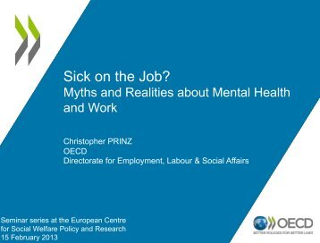 Sick on the Job? - European Centre for Social Welfare Policy and ...