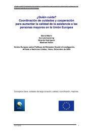 ¿Quién cuida? - European Centre for Social Welfare Policy and ...