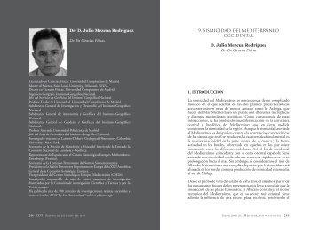 9. SISMICIDAD DEL MEDITERRáNEO OCCIDENTAL D ... - Asesmar