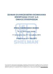 ΣΕΛΜΑΝ: Οικονομική έκθεση 12μήνου 2012 - Euro2day.gr