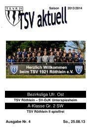 TSV aktuell Nr. 4 2013/14