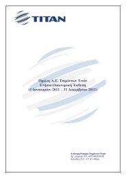 ΤΙΤΑΝ: Οικονομική έκθεση 12μήνου 2011 - Euro2day.gr