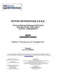 ΠΕΤΡΟΣ ΠΕΤΡΟΠΟΥΛΟΣ Α.Ε.Β.Ε. - Euro2day.gr