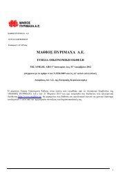 ΜΑΘΙΟΣ ΠΥΡΙΜΑΧΑ: Οικονομική έκθεση 12μήνου 2012 - Euro2day.gr