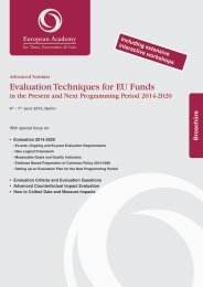 Evaluation Techniques for EU Funds in the Present ... - Euroacad.eu
