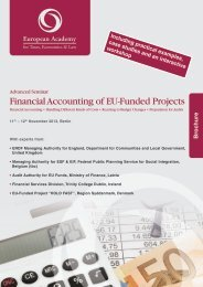 "Seminar: ""Financial Accounting of EU-Funded Projects"" - Euroacad.eu"