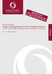 Project Management for EU Funded Projects