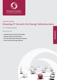 Ensuring IT Security for Energy Infrastructures - Euroacad.eu