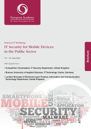 IT Security for Mobile Devices in the Public Sector - Euroacad.eu