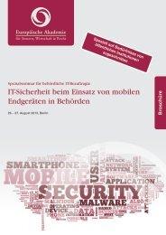 IT-Sicherheit beim Einsatz von mobilen Endgeräten in Behörden