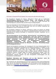 EU-Fonds in deutscher - Europäische Akademie für Steuern ...