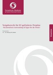 Vergaberecht für EU-geförderte Projekte - Europäische Akademie ...