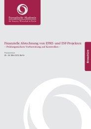 Finanzielle Abrechnung von EFRE - Europäische Akademie für ...