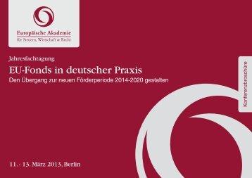 EU-Fonds in deutscher Praxis - Europäische Akademie für Steuern ...