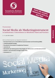 Social Media als Marketinginstrument - Europäische Akademie für ...