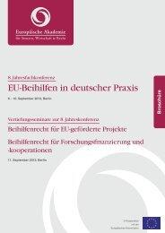 EU-Beihilfen in deutscher Praxis - Europäische Akademie für ...