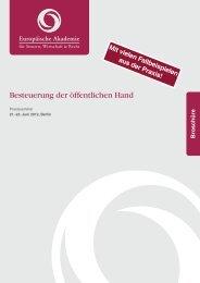 Besteuerung der öffentlichen Hand - Europäische Akademie für ...