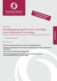 Beteiligungsmanagement und - Europäische Akademie für Steuern ...