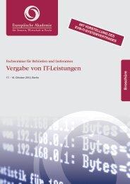Vergabe von IT-Leistungen - Europäische Akademie für Steuern ...