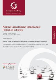 National Critical Energy Infrastructure Protection in Europe