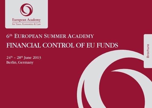 "6th European Summer Academy ""Financial Control of EU Funds"""