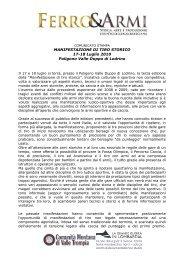 MANIFESTAZIONE DI TIRO STORICO 17-18 Luglio ... - Euroarms
