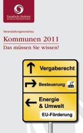Kommunen 2011 - Europäische Akademie für Steuern, Wirtschaft ...