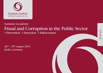 "Summer Academy ""Fraud and Corruption in the Public Sector"""