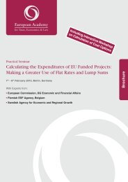 Calculating the Expenditures of EU Funded Projects: Making a ...
