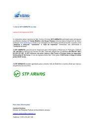 site da STP AIRWAYS na rede - Euro Atlantic Airways