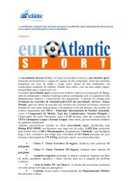 euroAtlantic airways lança produto exclusivo euroAtlantic sport