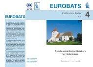 Schutz oberirdischer Quartiere für Fledermäuse - Eurobats