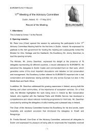 Record of the Meeting - Eurobats