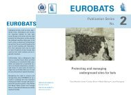 Protecting and managing underground sites for bats, 3rd ... - Eurobats