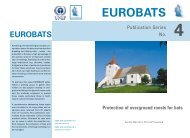 Protection of overground roosts for bats, 2nd edition - Eurobats