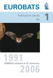 1991 - 2006. EUROBATS celebrates its 15th anniversary