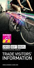 EUROBIKE 2013 | Trade visitors' information