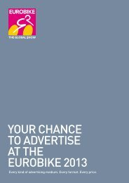 Your chance to advertise Every kind of advertising ... - Eurobike