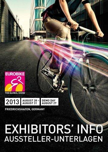 EUROBIKE 2013 | Exhibitors' info | Aussteller-Unterlagen