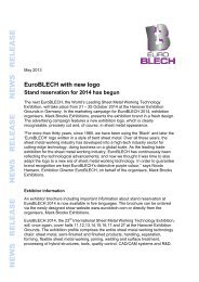 Download full Press Release - EuroBLECH