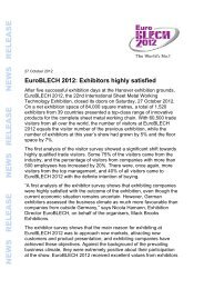 Download close of show press release - EuroBLECH