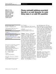 Plasma neutrophil gelatinase-associated lipocalin is an early ...
