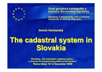 The Slovak Cadastral System