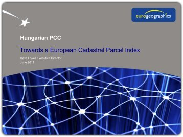 A prototype cadastral parcel map of Europe: Dave Lovell