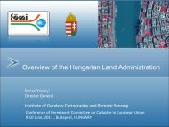 Overview of the Hungarian Land Administration - Permanent ...